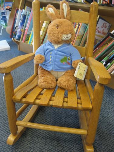 p rabbit in chair