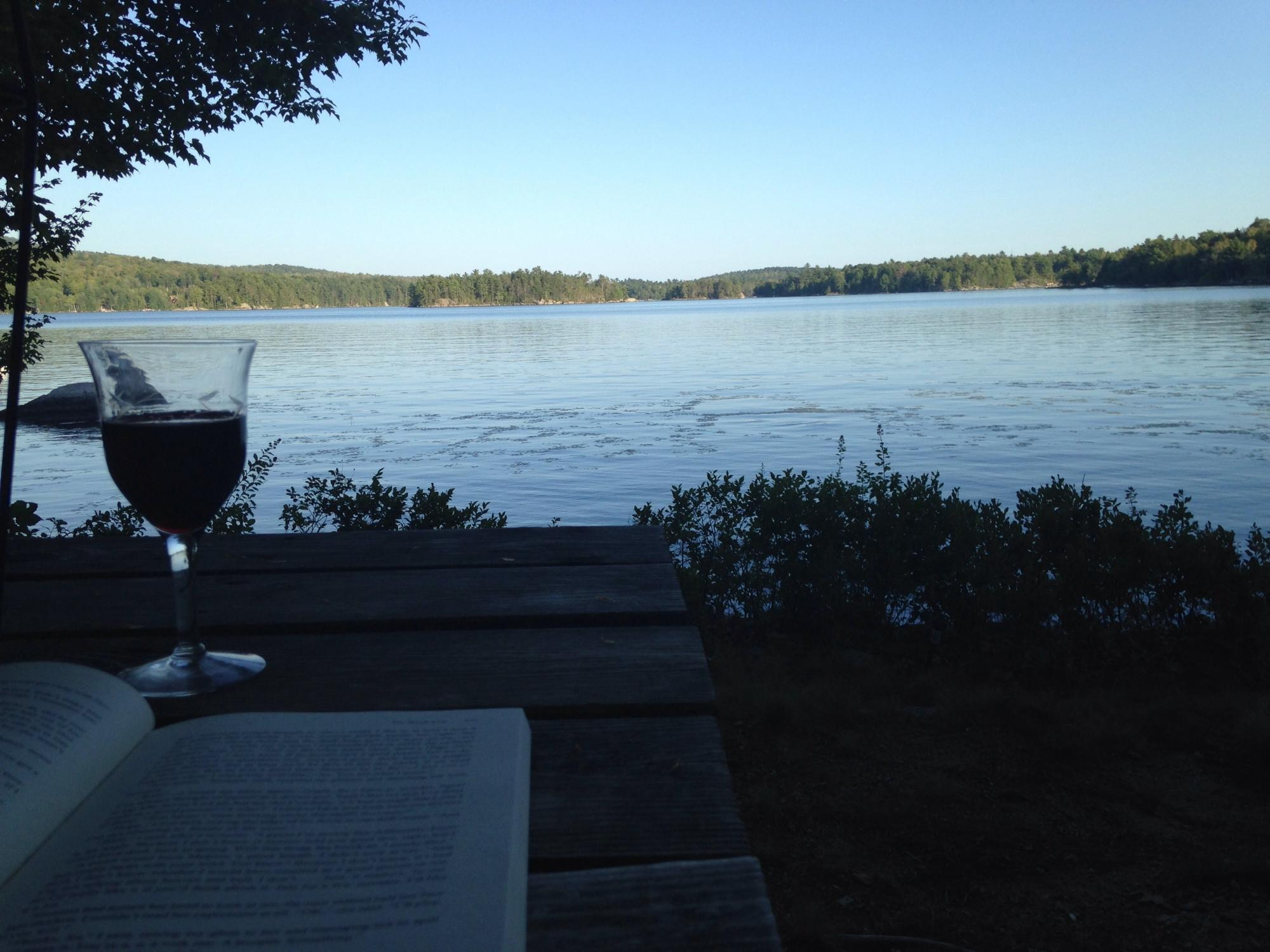 camp w book & wine